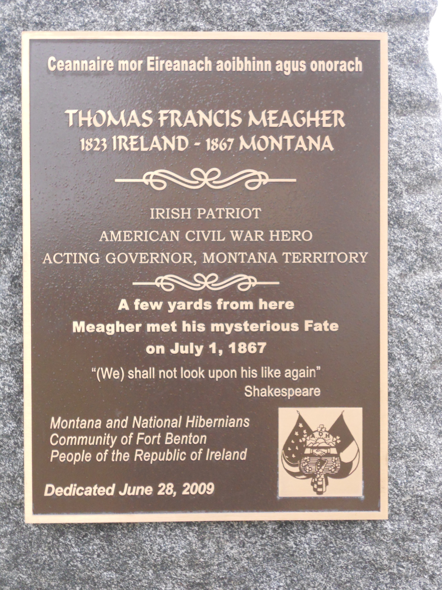 meagher plaque